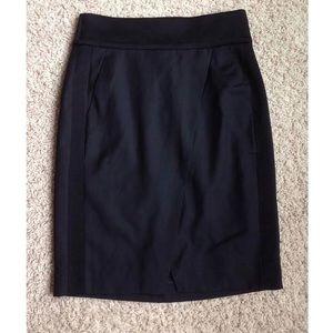 J. Crew Asymmetrical Crossover Pencil Skirt